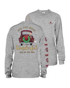 Simply Southern Women's Wonderful T-Shirt Heather Grey