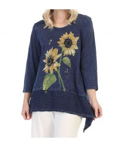 Jess & Jane Women's Sunflower Tunic Denim