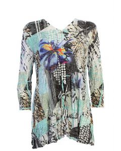 Jess & Jane Women's Iris Button Tunic Multi