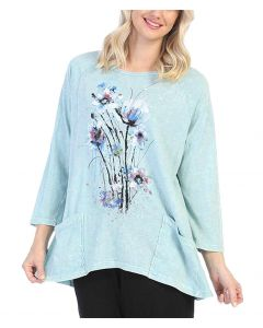 Jess & Jane Women's Felicty Pocket Tunic Mint