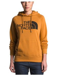 The North Face Women's Half Dome Pullover Hoodie Yellow Black