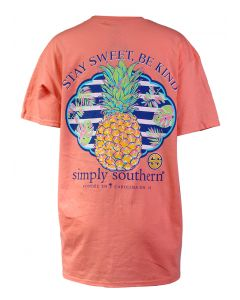 Simply Southern Women's Sweet Pineapple T-Shirt Peach