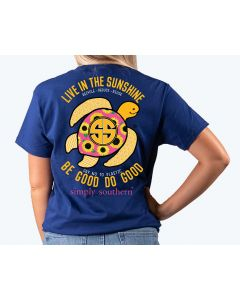 Simply Southern Women's Save Sunflower T-Shirt Midnight