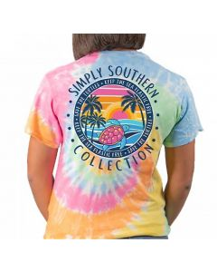 Simply Southern Women's Save Plastic T-Shirt Tiedye