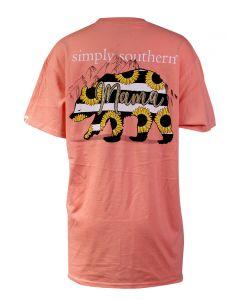 Simply Southern Women's Mama Bear T-Shirt Peachy