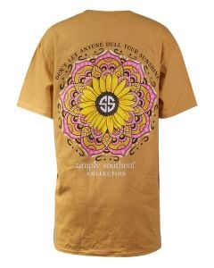 Simply Southern Women's Dull Sunflower T-Shirt Mustard