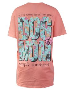 Simply Southern Women's Dog Mom T-Shirt Peachy