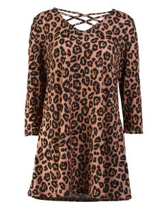 Simply Southern Women's Cross Tunic Leopard