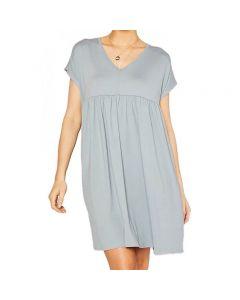 MittoShop Women's Pleat Dress Grey