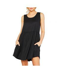 MittoShop Women's Tank Dress Black