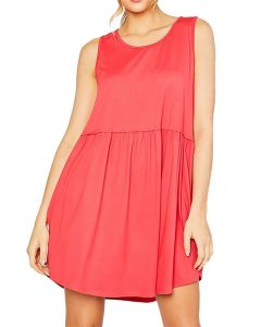 MittoShop Women's Tank Dress Coral