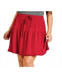 Umgee USA Women's Ruffle Skirt Jester Red