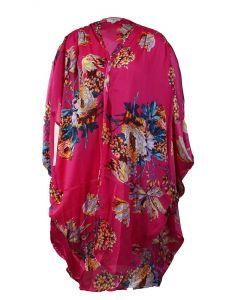 Umgee USA Women's Floral Kimono Hot Pink Mix
