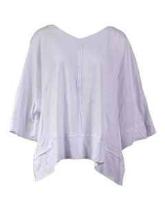 Umgee USA Women's Wide Sleeve V-Neck Top White
