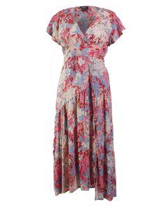 Angie Women's Floral Wrap Dress Lilac