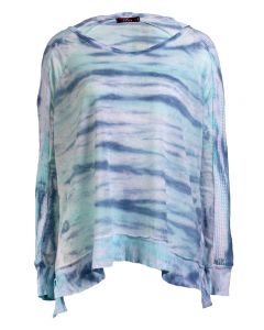 T-Party Women's Tyedye Tunic Aqua