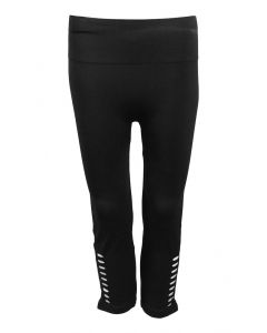 One 5 One Women's Crop Side Slit Legging Black