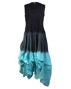Cute Options Women's Tank Dress Aqua Black