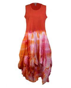 Cute Options Women's Tank Dress Orange Pink