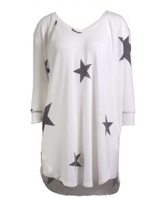 Jupee Women's Star Tunic Ivory