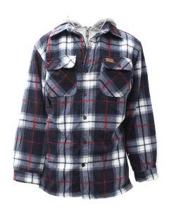 Pacific Teaze Men's Fleece Jacket Tall Blue Plaid