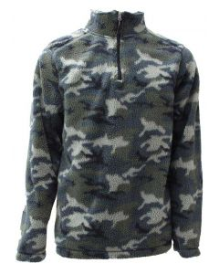 Pacific Teaze Men's Quarter Zip Camo