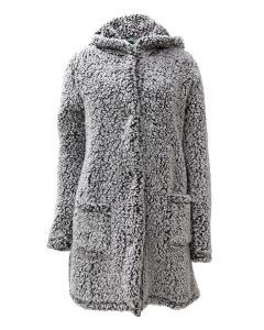 Pacific Teaze Women's Frosty Hooded Coat Black
