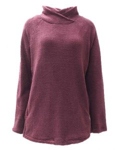 Pacific Teaze Ladies Stretch Pullover Burgundy