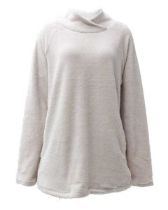 Pacific Teaze Ladies Stretch Pullover Off White