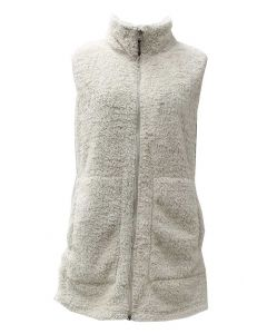 Pacific Teaze Ladies Long Vest Natural