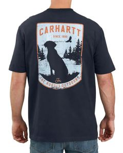 Carhartt Men's Pocket Dog Graphic Navy