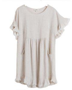 Umgee USA Babydoll Dress Oatmeal