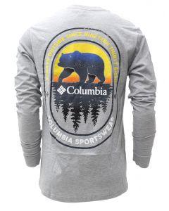 Columbia Sportswear Men's Burr Long Sleeve T Shirt Grey Heather