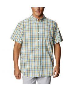 Columbia Sportswear Men's Rapid Rivers II Short Sleeve Yellow Gingham