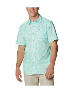 Columbia Sportswear Men's Super Slack Tide Camp Shirt Mint Cay Kona