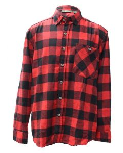 Pacific Teaze Mens Flannel Shirt Black-Red