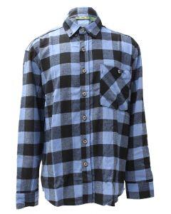 Pacific Teaze Mens Flannel Shirt Blue-Black