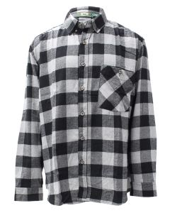 Pacific Teaze Mens Flannel Shirt Grey-Black
