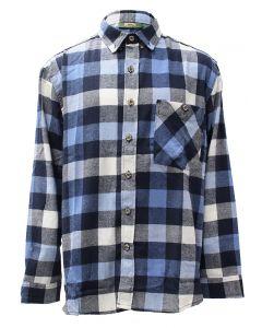 Pacific Teaze Mens Flannel Shirt White-black