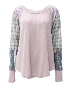 Ces Femme Women's Mixed Waffle Tunic Orchid