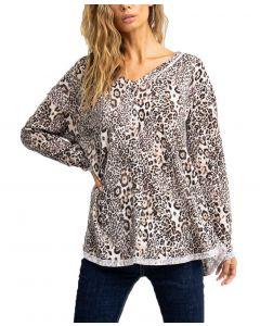 Ces Femme Women's Animal Print Tunic Leopard