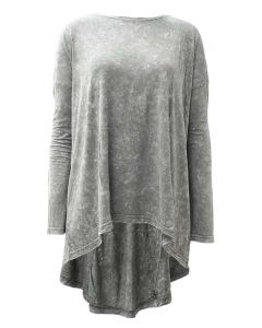 Nostalgia Women's Mineral Wash Tunic Olive Suede