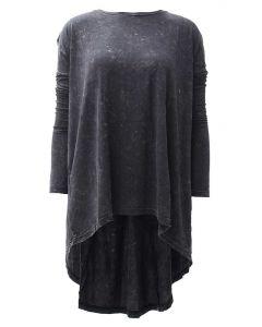 Nostalgia Women's Mineral Wash Tunic Black