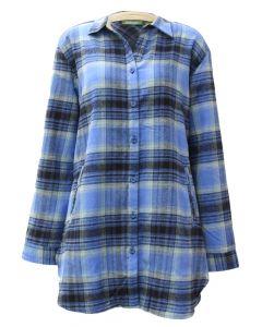 Stillwater Supply Co. Women's Soft Flannel Tunic Blue Black