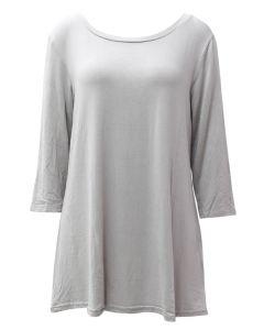 Deloache Women's 3/4 Sleeve Tunic Grey