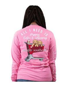 Simply Southern Women's Shop T-Shirt Flamingo
