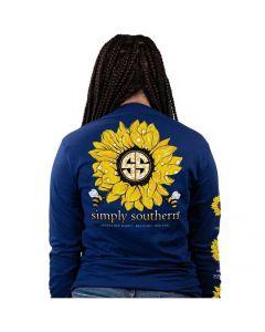 Simply Southern Women's Sunflower T-Shirt Midnight