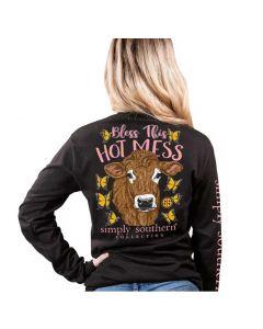 Simply Southern Women's Mess T-Shirt Black
