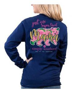Simply Southern Women's Mama T-Shirt Navy