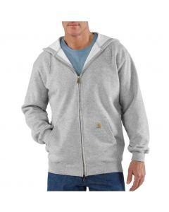 Carhartt Men's Zip-Front Hoodie Heather Gray